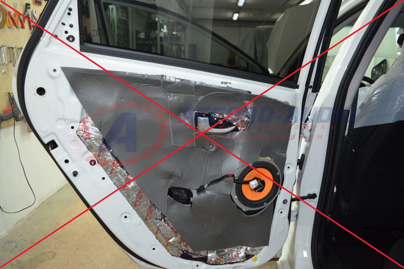 Шумоизоляция авто двери своими руками 75